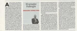 G.Gu00F3mez Pina_La Voz2014_Senador Fulbright