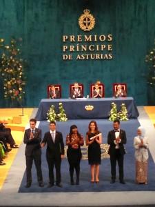 Recepción del Premio Príncipe de Asturias