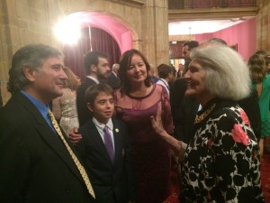 Antonio y Estrella con Harriet Fulbright