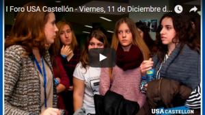Vídeo del I Foro USA Castellón